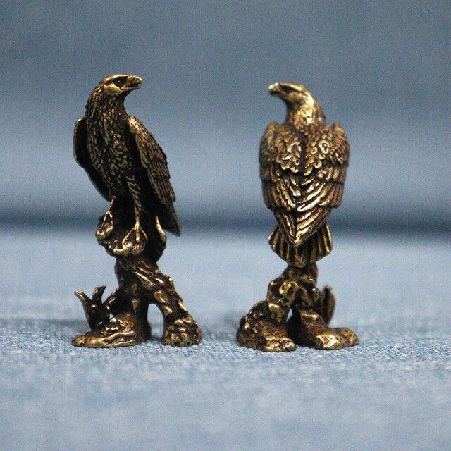 Handmade Brass Eagle Ornaments Accessories Vintage Pure Copper Bird Desk Decor Accessories Animal Home Decoration Mini Figurines 2