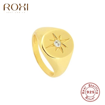 ROXI Minimalism Anise Star Rings for Women Girls Party Wedding Finger Bague 925 Sterling Silver Ring Jewelry Anillos