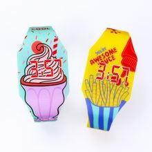 Новые светящиеся детские наручные часы с рисунком еды для девочек