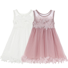 Elegant Lace Ball Gown Mesh Tutu Dress Baby Girls Clothes Flower Princess Wedding Dresses Kids Dresses for Girls Party Costume 2016 dress for children elegant kids clothes tutu princess party flower elegant baby girls dresses for girls age 3 8 10 11 12 13