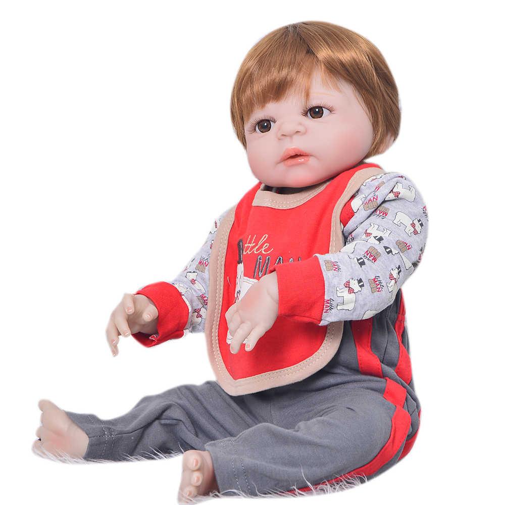 Com girafa Realista Renascer baby Dolls Brinquedos DIY 22 polegada Bebês de Silicone Toque Boneca Bonecas Dos Desenhos Animados bebe Macio Venda quente NPK