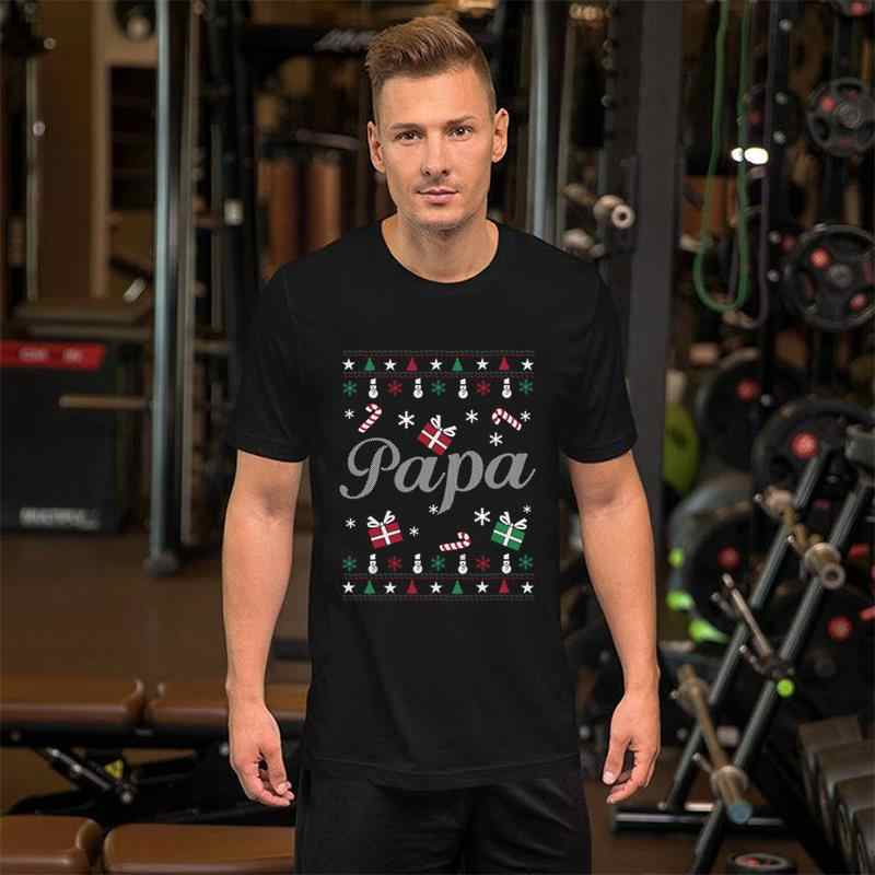귀여운 파파 굉장 크리스마스 스웨터 파파 연인 t 셔츠 3xl 4xl 13xl 코믹 chanukah 니트 남성 티셔츠