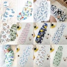 Swaddle Blanket Sleepwear Muslin-Wrap Baby-Girls Newborn Warm Hat 0-12M Boys 2pieces