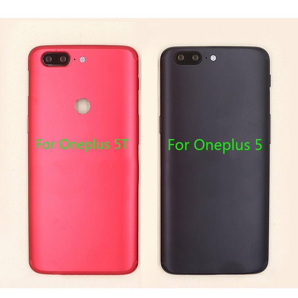 Back Housing Battery Cover For Oneplus 5T A5010 5 A5000 Side Keys+Camera Glass Back Battery Cover For Oneplus 5 5T|Mobile Phone Housings & Frames| |  - title=