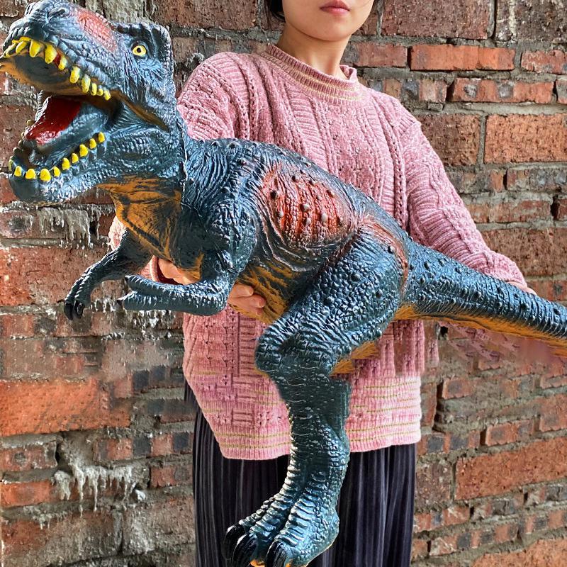 Большой динозавр 84 см, модель акулы, игрушки для детей, тираннозавр рекс, мягкие игрушки, животные, Велоцираптор, Юрский Мир, подарок для дете...
