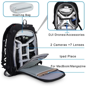 Image 4 - Camera Backpack Waterproof Anti theft Nylon Photo SLR Case Bag Backpack Camera Bag with TSA Lock Rain Cover for Canon Nikon Sony