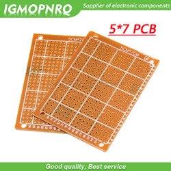 2 sztuk 5x7cm 5*7 nowy prototypowy papier z miedzi z pcb uniwersalny eksperyment obwód matrycy 5CM * 7CM|Jednostronne płytki PCB|   -