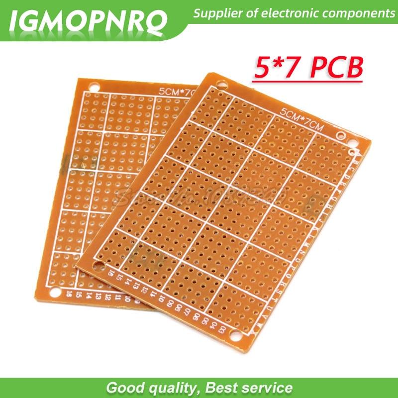 2Pcs 5x7cm 5*7 new Prototype Paper Copper PCB Universal Experiment Matrix Circuit Board 5CM*7CM