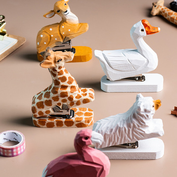 Grapadora de animales hecha a mano para tallado en madera sin grapas...