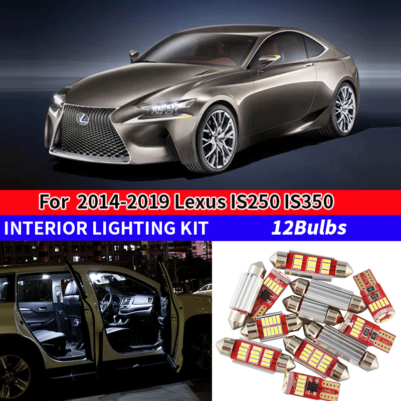 Trunk Lamp SMD NEW Lexus RC F 350 200t White LED Interior Light Package Door