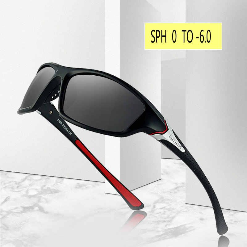 2020 Prescription 1.0 to 6.0 Finished Polarized Myopia Sunglasses Men Women Short sighted Optics Driving goggles with box FML