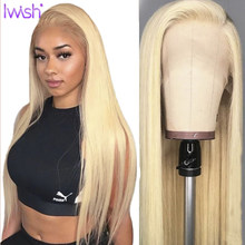 Honey Blonde 613 Lace Front Wigs Brazilian Remy 13x6 Lace Front Human Hair Wigs Pre plucked Straight 150% Lace Closure Wigs(China)