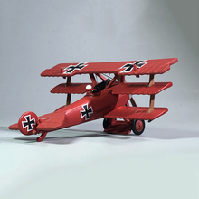 1:72 1/72 Scale German Air Ace WWI Fokker Dr-I Red Baron Fighter Diecast Metal Airplane Plane Aircraft Model Toy new rare fine corgi 1 72 germany me262a 1a fighter red 7 aa35710 collection model holiday gifts