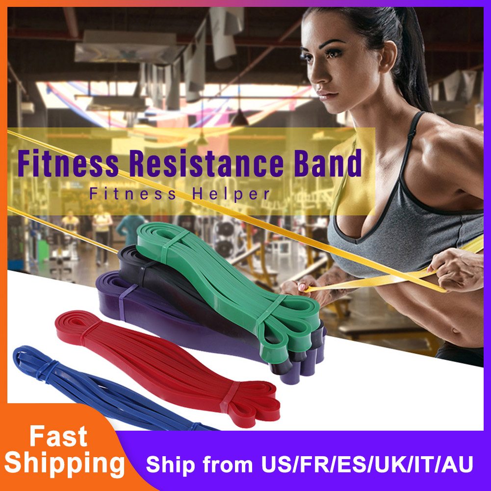 Resistance Band Strength Trainer Yoga Fitness Pull Belt Men's Training Flat Rubber Band Tension Ring Elastic Lacing Band