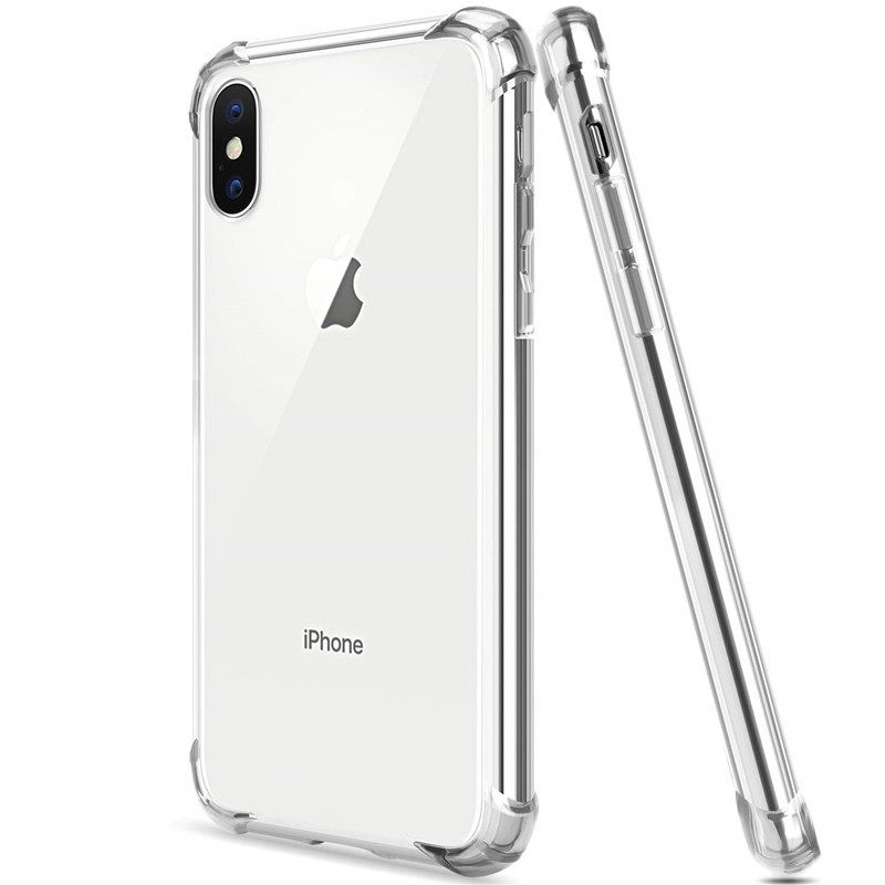 Shockproof Clear Soft Case for iPhone XR X XS Max Silicon Phone Back Cover On For Apple iPhone 6 6S 7 8 Plus SE 2020 11 12 Pro