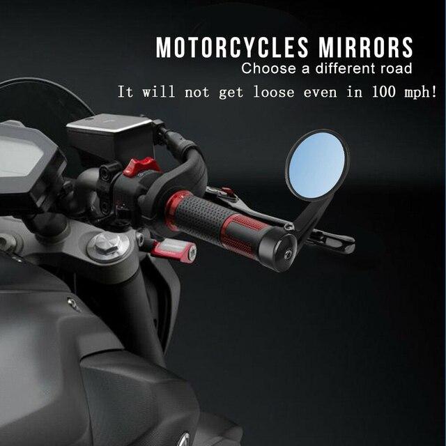 Lusterka motocyklowe kierownica Cafe Racer CNC skuter Crusier lusterko wsteczne R1200GS F800 GS dla MT-07 09 dla Versys 650
