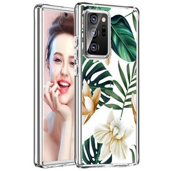 Fiori Caso Antiurto per Samsung Galaxy Note 20 Ultra Hybrid Caso Duro + TPU 2 in 1 per Samsung Galaxy nota 20 Difesa Scudo