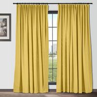 Tape Pleat Solid Cotton Linen Blackout Curtain ChadMade Custom Curtains French Light Luxury Drapes in Living Room Curtain Fabric