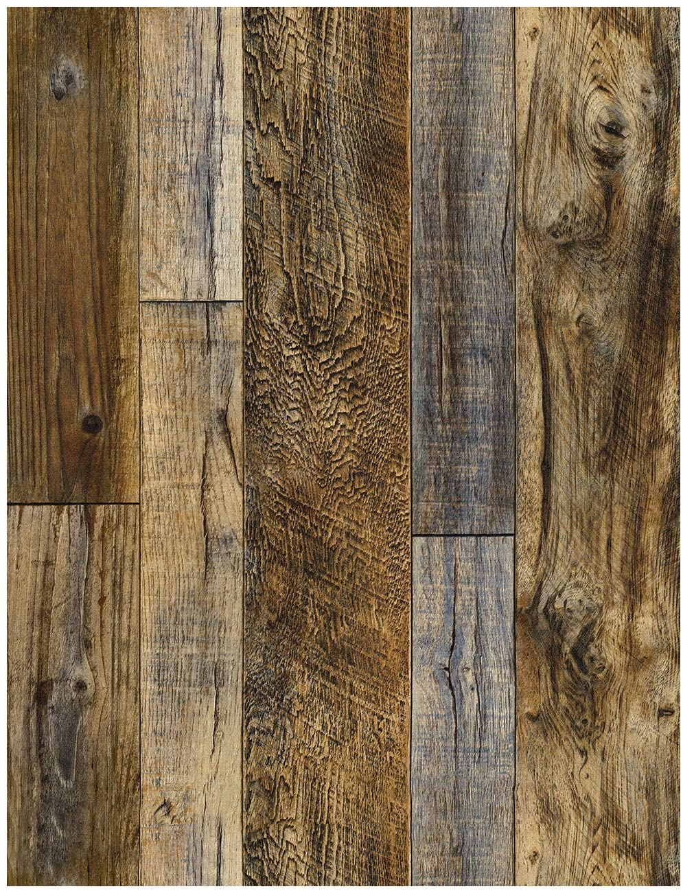 Peel and Stick Wood Plank Wallpaper Shiplap Brown Vinyl Self Adhesive Contact Paper Decorative Wall Covering Stickers 1