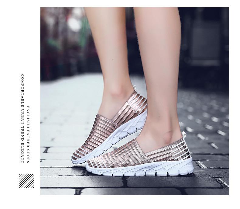 Women Flats Shoes Woman Loafers Slip-ons Platform Ballet Sneakers (10)