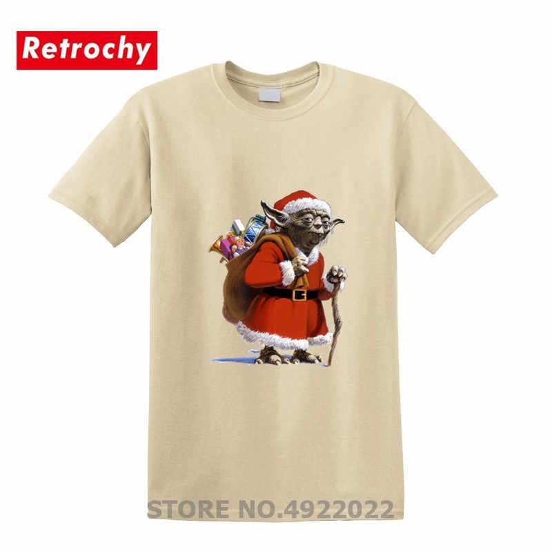 面白いスターサンタヨーダ Wars Tシャツメンズメリークリスマス綿 100% 半袖ダース · ベイダー Tシャツジェダイ Tシャツクリスマストップス