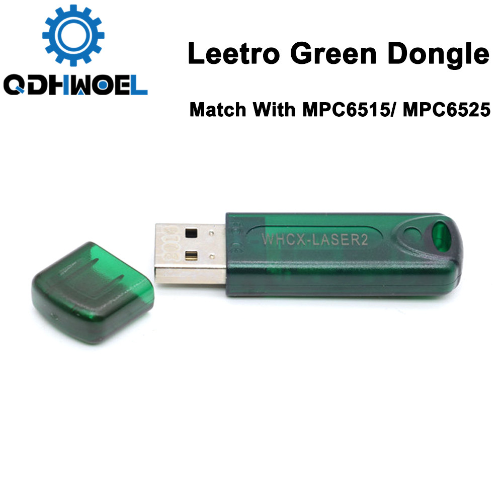 Leetro Laser Controller Green USB Dongle For Co2 Laser Controller MPC6515 MPC6525 MPC6525A Key Laser Cut 5.3