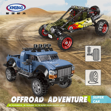 XINGBAO Off-Road Adventure TECHNIC Car Series Assembly The Pick Up Car Truck Building Blocks MOC Bricks Compatible Legoings Car lepin 20057 genuine technic mechanical series ultimate extreme adventure car building blocks bricks compatible with lego 42069