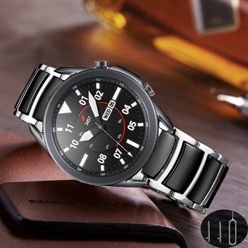 20mm 22mm galaxy watch 3 45mm pulseira for samsung galaxy watch 46mm band Ceramic stainless steel strap for huawei watch gt 2 e