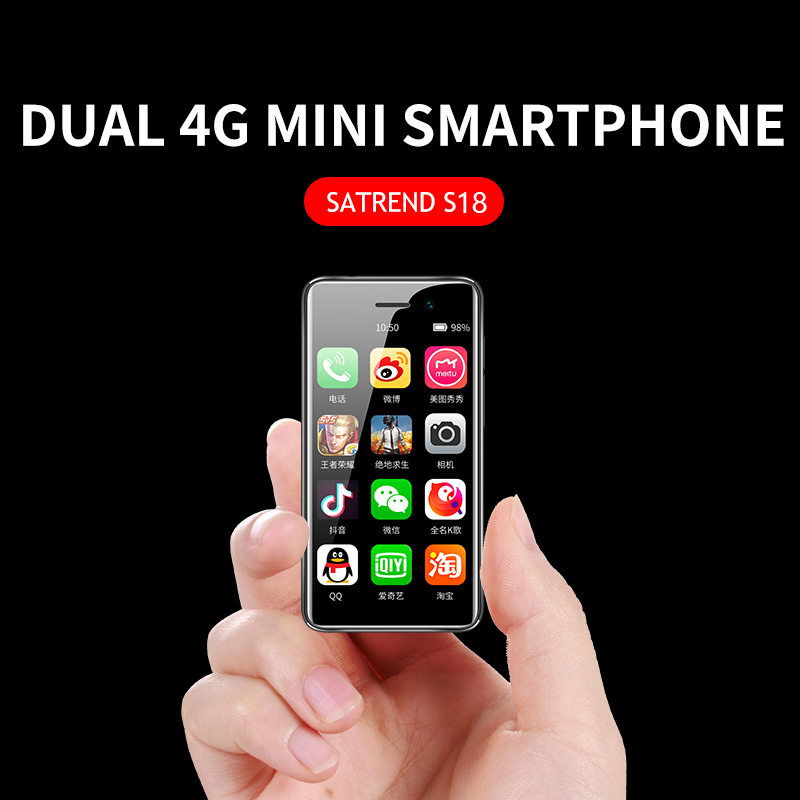 Mini Smartphone Android 7.1 Small Cell Phone GSM/LTE/WCDMA Google Play Dual SIM 3.2 Inch Mobile Phone WiFi GPS Bluetooth Phones
