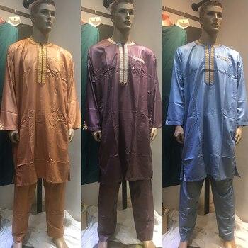 Conjunto de ropa de satén para hombres, conjunto de ropa de Arabia...