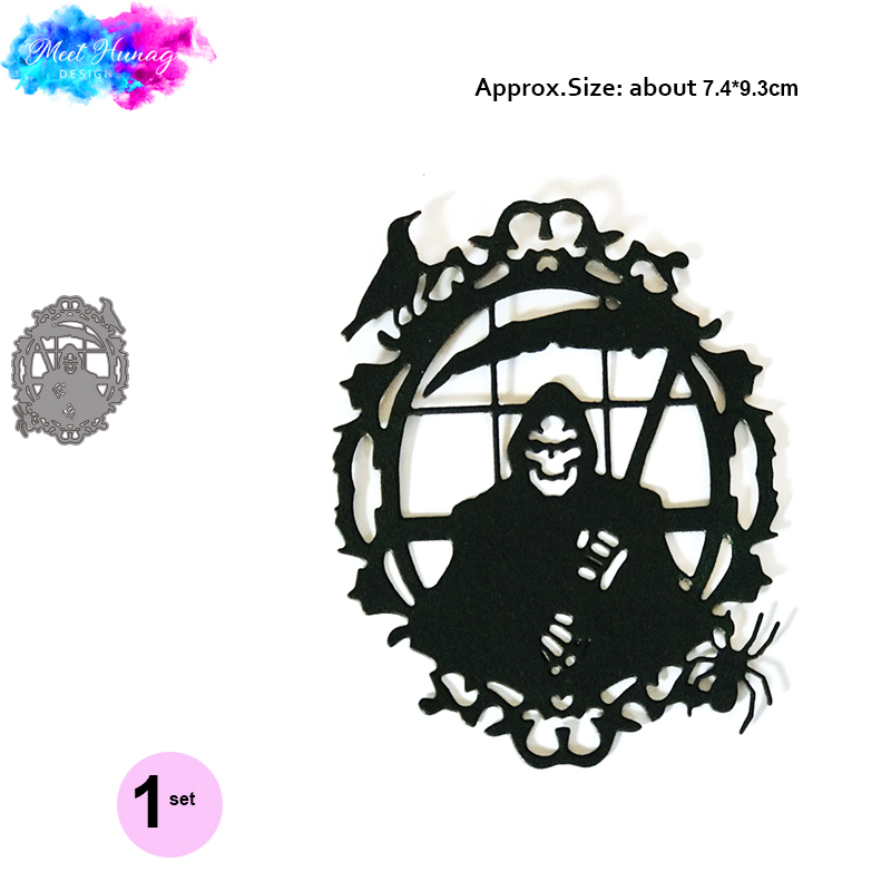 The Reaper Frame Dies Happy Halloween Metal Cutting Dies Scrapbooking Craft Die Cut Carbon Steel Create Stamps and Dies in Cutting Dies from Home Garden