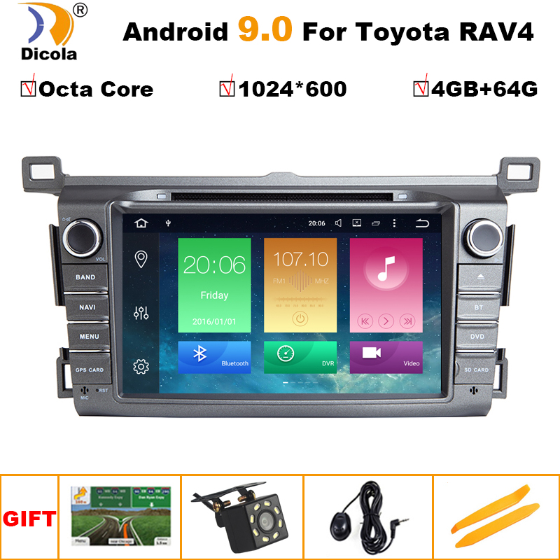 PX5 4G+64G IPS 2 Din Android 9 car multimedia dvd player GPS for <font><b>Toyota</b></font> <font><b>RAV4</b></font> <font><b>Rav</b></font> <font><b>4</b></font> 2013 <font><b>2014</b></font> <font><b>2015</b></font> <font><b>2016</b></font> <font><b>2017</b></font> 2018 car radio OBD2 image