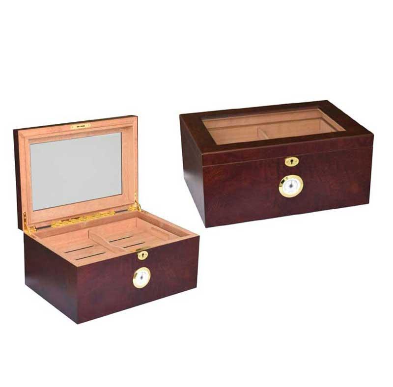 Boîte d'exposition pour cèdre et cigare espagnol, humidificateur en verre, en bois avec plateau