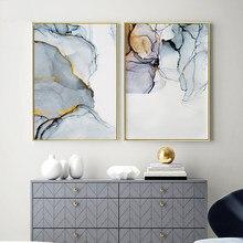 Современные абстрактные стены искусства живопись холст картина геометрической формы Холст плакат Настенная картина домашний декор соврем...