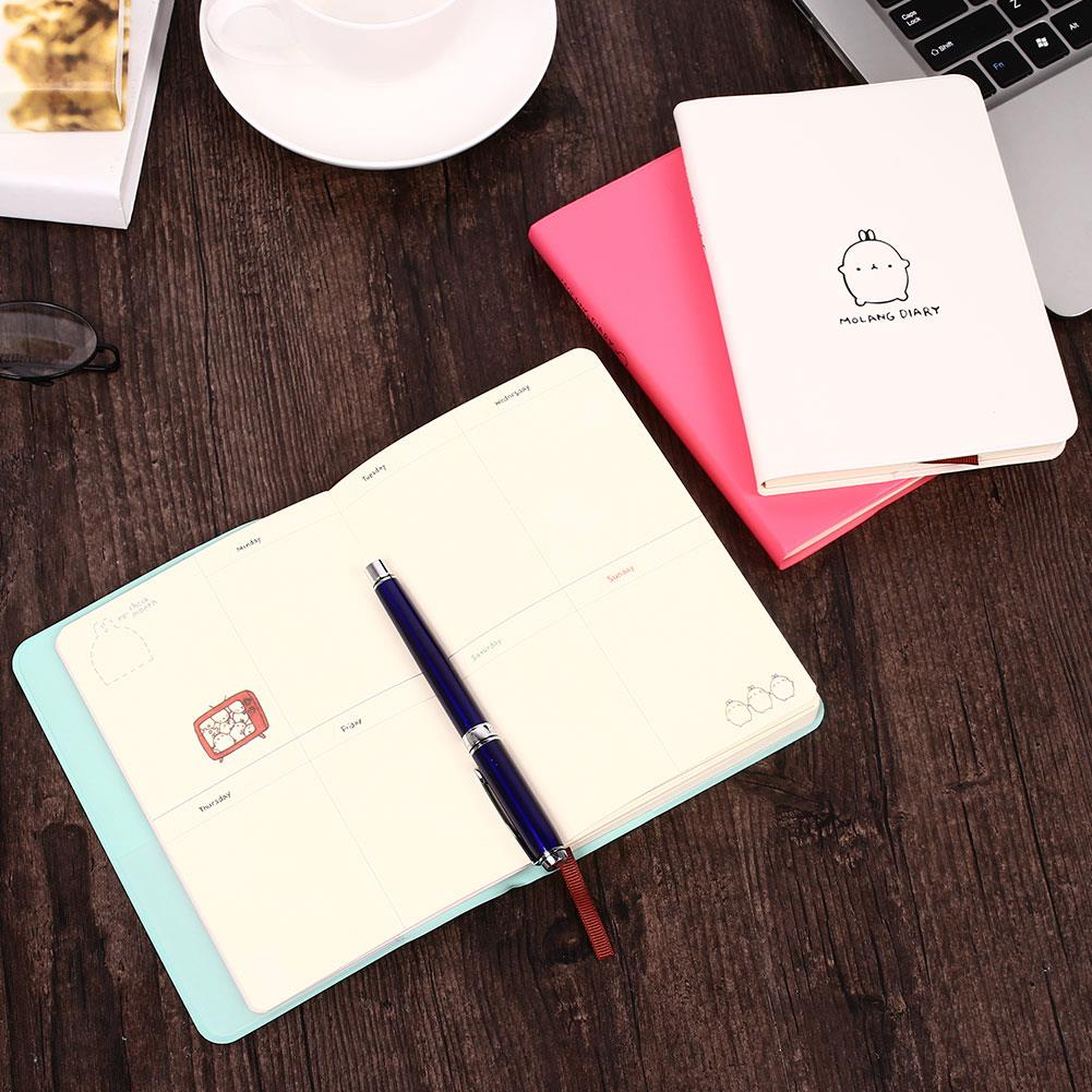 Diary Notebook Kawaii Fashion Planner Memo Scheduler Agenda Notebook Molang Rabbit School Office