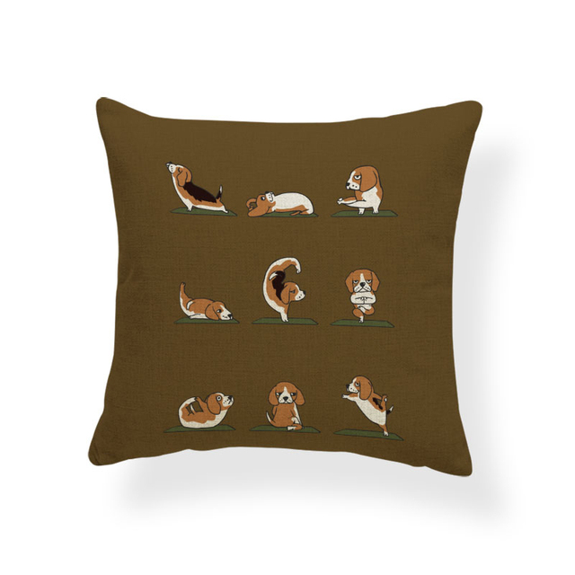 Animal Yoga Cushion Covers 2
