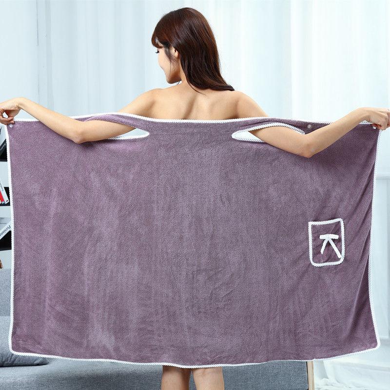 Bath Towel Superfine Fiber Towels Soft and Absorbent Chic Towel for Autumn Hotel Home Bathroom Women Bathrobe Towel