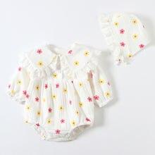 Осенние комбинезоны для новорожденных девочек 0 12 месяцев хлопковые