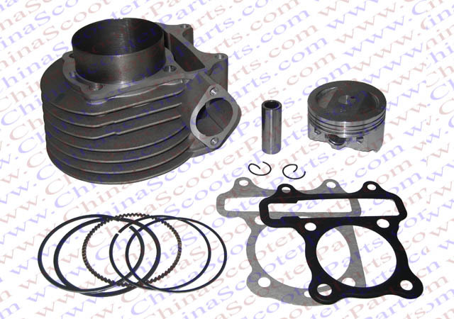 Kit de segments de Piston de cylindre de Performance GY6 59mm (Kit de gros alésage) changement 125CC à 158CC Kazuma Jonway ATV Quad Scoote Buggy