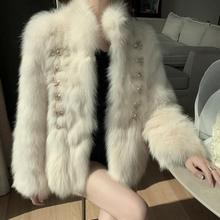 Jacket Women Faux Fur Coat Faux Fur Coat Women's Winter Double Breasted Overcoat Veste Femme Clthes Luxury Black Fur Elegant