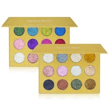 12 Color Eyeshadow Palette Glitter Injections Pressed Glitters Eye Shadow Powder Diamond Metallic Shiny Pigment Cosmetics 1bag lot 0 3mm shiny glitters colored nail art glitters decorations graceful eyeshadow powder glitters cosmetic makeup tools