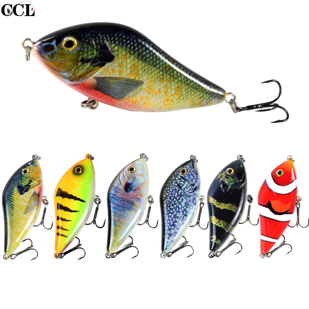 CCLTBA Pike Lures Jerkbait 10cm 45g Slider Swim Action Wobblers Fishing Lures For Pike Musky Hard Plastic Artificial Bait