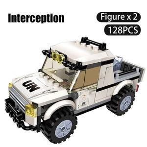 Image 5 - 298PCS Military Car Vehicle Weapon Sets Building Blocks WW2 Army Panzer Chinoook Brick DIY Toy Children Boy Gift