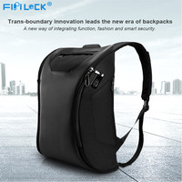 Backpack USB Fingerprint Lock Motorcycle Anti Theft Bag Smart Keyless Locks Fingerprint Backpack Portable Charger