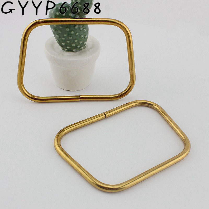 10pcs 4colors Light Gold 11x8cm Bold Trapezoidal Hand Bag Hardware Matching Color Bag Handle Handbags Handle Connect