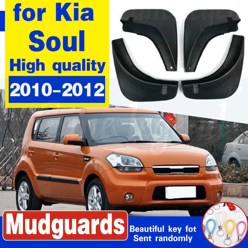 Mudguards for Kia Soul AM 2010 2011 2012 4 PCS Front Rear Fender ...