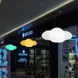 Cartoon kreatywny kolor chmura żyrandol restauracja/bar lampa pokojowa dla dzieci nowoczesny minimalistyczny pilot chmura żyrandol