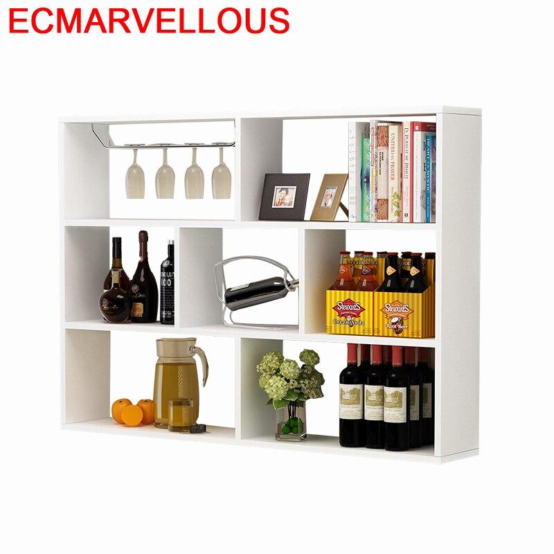 Salon Shelves Cristaleira Meube Cocina Gabinete Kitchen Desk Storage Mesa Mueble Shelf Bar Commercial Furniture Wine Cabinet