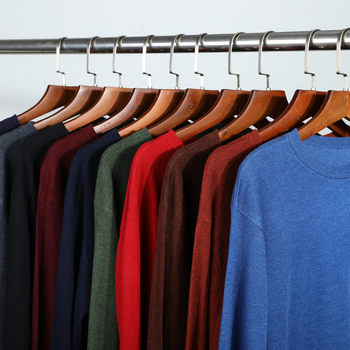 10 Colors Men's Casual Knit Sweater 2020 Autumn Winter New Slim Fit Pullover Wool Cashmere Sweater Men Brand Clothes 1