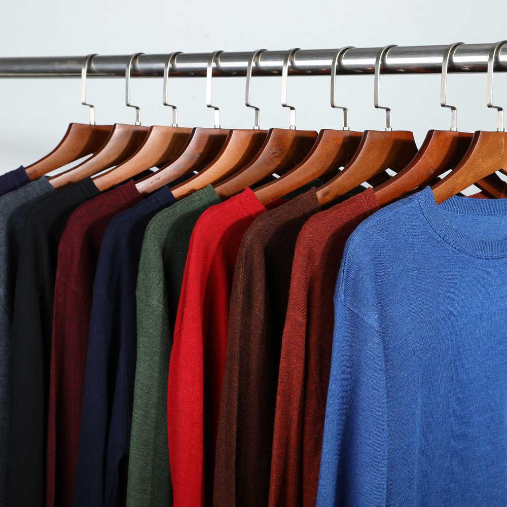 10 색 남성 캐주얼 니트 스웨터 2020 가을 겨울 새로운 슬림 맞는 풀오버 양모 캐시미어 스웨터 남성 브랜드 의류